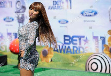 Teairra Mari Teairra Mari arrives at the BET Awards, in Los Angeles
