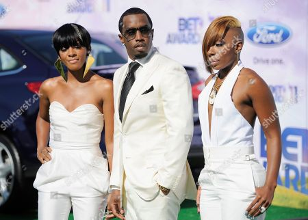 Dawn Richard, Sean Diddy Combs, Kaleena Harper From left, Dawn Richard, Sean Diddy Combs, and Kalenna Harper of the band Diddy Dirty Money arrive at the BET Awards, in Los Angeles