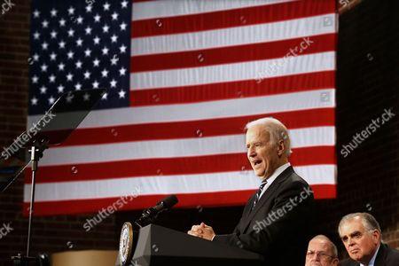 Editorial image of Biden Stimulus Anniversary, Granite City, USA