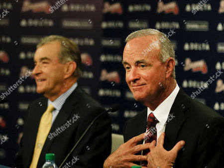 John Hart, John Schuerholz John Hart, right, speaks as Braves president John Schuerholz looks on during a news conference in Atlanta where it was announced that he has been named president of baseball operations for the Atlanta Braves. With Hart accepting the newly created title, the Braves no longer are looking for a general manager