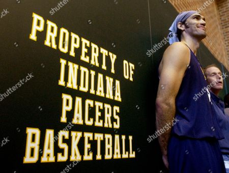 POLLARD Indiana Pacers center Scot Pollard answers questions from the media following practice in Indianapolis., Monday, Nov.22, 2004