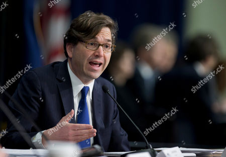 Stock Photo of Jason Furman Council of Economic Advisers Chairman Jason Furman, talks about President Barack Obama's Fiscal Year 2016 Budget, during a news conference at the Eisenhower Executive Office Building in the White House complex in Washington, . Obama sent Congress a record $4 trillion budget Monday that would boost taxes on higher-income Americans and corporations and eliminate tight federal spending caps to shower more money on both domestic and military programs. It would provide middle-class tax relief and fund an ambitious public works effort to rebuild aging roads and bridges