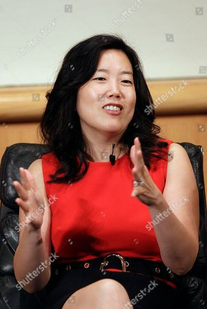 Stock Image of Michelle Rhee StudentsFirst Founder and CEO Michelle Rhee speaks at a panel at the Silicon Valley Leadership Group's 9th Annual CEO Business Climate Summit in San Jose, Calif