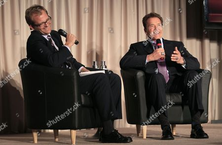 Arnold Schwarzenegger Former California Gov. Arnold Schwarzenegger, right, laughs as he speaks with Matt Petersen, President and CEO of Global Green, during a panel at the Governor's Conference on Extreme Climate Risks and California's Future at the California Academy of Sciences in San Francisco