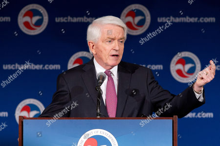 Thomas Donohue U.S. Chamber of Commerce President and CEO Thomas Donohue speaks at the State of American Business 2015 event in Washington