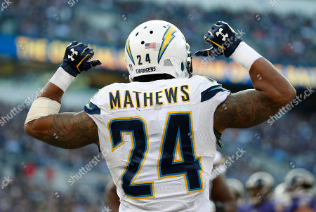 Ryan Matthews San Diego Chargers running back Ryan Mathews points to his name after scoring a touchdown in the second half of an NFL football game against the Baltimore Ravens, in Baltimore