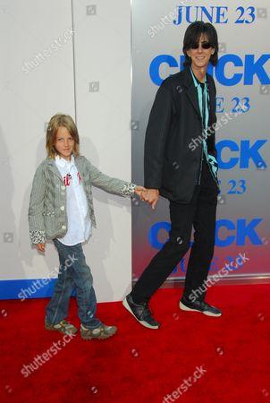 Ric Ocasek and son Oliver Orion Ocasek