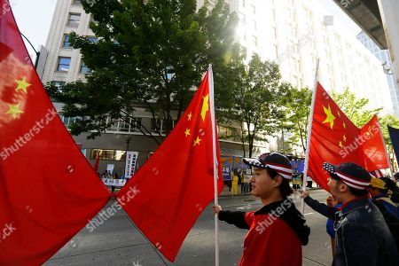 Editorial photo of Chinese President US Visit, Seattle, USA