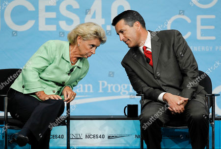 Brian Sandoval, Christine Gregoire Nevada Governor Brian Sandoval, right, talks with Washington governor Christine Gregoire before the start of a panel discussion on energy at the National Clean Energy Summit, in Las Vegas