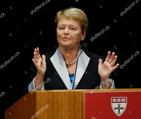 Gro Harlem Brundtland Gro Harlem Brundtland, of Norway, addresses attendees after receiving the Harvard School of Public Health's Centennial Medal in Boston, . The award was given to Brundtland, former President Bill Clinton and Dr. Jim Yong Kim on the 100th anniversary of the school