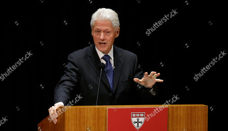 Bill Clinton Former President Bill Clinton addresses attendees after receiving the Harvard School of Public Health's Centennial Medal in Boston, . The award was given to Clinton, Gro Harlem Brundtland from Norway and Dr. Jim Yong Kim on the 100th anniversary of the school