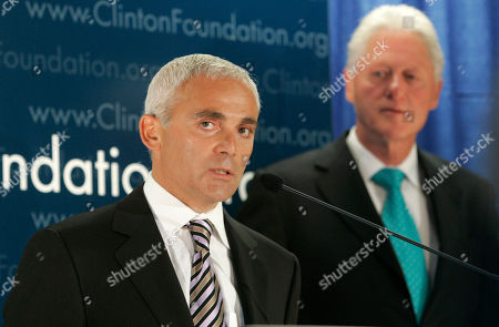 Bill Clinton, Frank Giustra Frank Giustra, a Canadian businessman, speaks as former President Bill Clinton looks on during a news conference in New York to announce the Clinton Foundation's launching of a new sustainable development initiative in Latin America. A donor list released on New Year's Day by the William J. Clinton Foundation shows that Giustra gave to the former president's charity