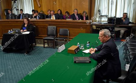 John Allen Special Presidential Envoy for the Global Coalition to Counter IS, retired Gen. John R. Allen testifies on Capitol Hill in Washington, before the Senate Foreign Relations Committee to examine the fight against the Islamic State of Iraq and Syria