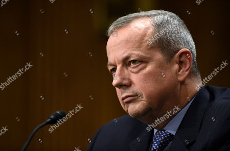 John Allen Special Presidential Envoy for the Global Coalition to Counter IS, retired Gen. John R. Allen listens to a question as he testifies on Capitol Hill in Washington, before the Senate Foreign Relations Committee to examine the fight against the Islamic State of Iraq and Syria