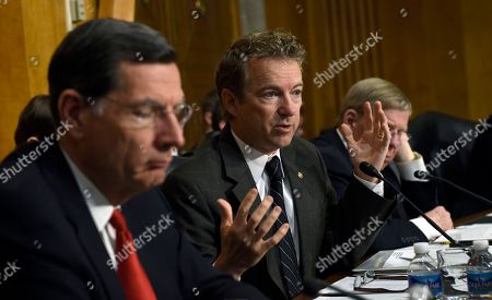Stock Photo of Rand Paul, John Barrasso, Johnny Isakson Sen. Rand Paul, R-Ky., center, questions Special Presidential Envoy for the Global Coalition to Counter IS, retired Gen. John R. Allen, on Capitol Hill in Washington, during a Senate Foreign Relations Committee hearing to examine the fight against the Islamic State of Iraq and Syria. From left are, Sen. John Barrasso, R-Wyo., Paul and Sen. Johnny Isakson, R-Ga
