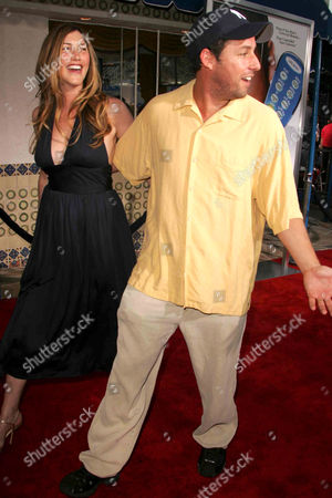 Stock Picture of Jackie Titone and Adam Sandler