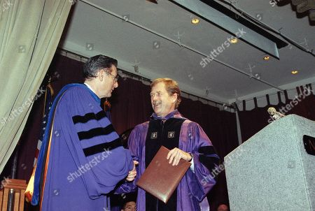 Vaclav Havel Czechoslovakian President Vaclav Havel, right, shakes hands with New York University President-Elect L. Jay Oliva after Havel was awarded an honorary doctor of law degree, in New York. Havel spoke to an audience at the university, defending his recent signing of a controversial law that prevents former top-ranking Communists from holding top state jobs