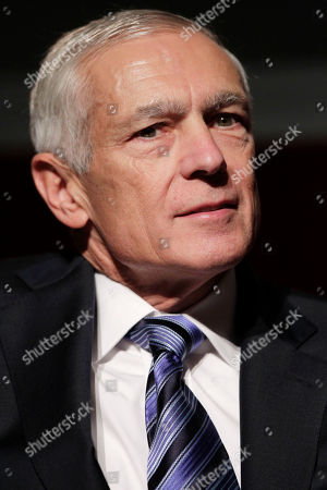 """Stock Photo of Wesley Clark Retired United States Army General Wesley Clark participates in a panel discussion during a program called """"America at a Crossroads: The Dayton Accords and the Beginnings of 21st Century Diplomacy"""" in New York"""