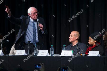 Bernie Sanders Democratic presidential candidate Sen. Bernie Sanders, I-Vt., speaks during a forum on race and economic opportunity at Patrick Henry High School,, in Minneapolis, Minn