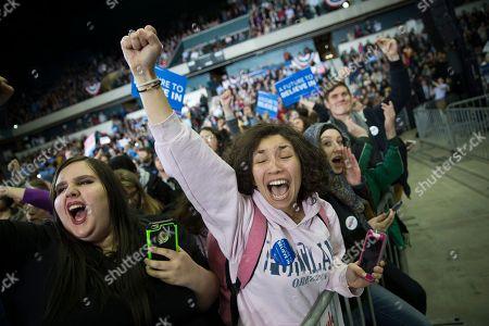 Editorial photo of DEM 2016 Sanders, Ypsilanti, USA