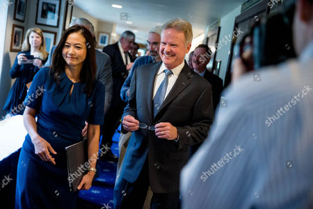 Jim Webb, Hong Le Webb Former Virginia Sen. Jim Webb, center, accompanied by his wife Hong Le Webb, left, leaves a press conference where he announced he will drop out of the Democratic race for president, at the National Press Club in Washington