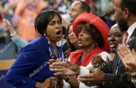 Ingrid Nurse North Carolina delegate Ingrid Nurse reacts as Rep. Emanuel Cleaver II of Missouri addresses the Democratic National Convention in Charlotte, N.C., on