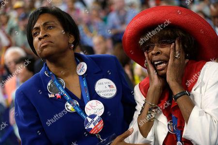 Ingrid Nurse, Hiawatha Foster North Carolina delegate Ingrid Nurse, left, and Hiawatha Foster react as Rep. Emanuel Cleaver II of Missouri addresses the Democratic National Convention in Charlotte, N.C., on