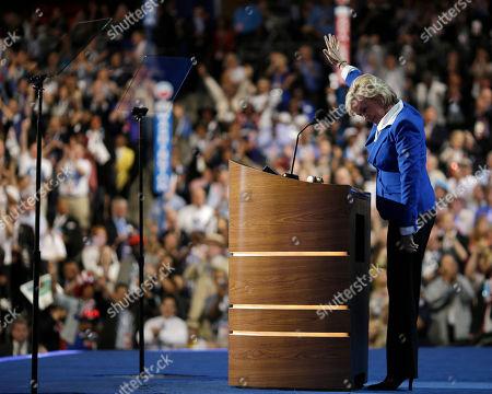Former Michigan Gov. Jennifer Granholm addresses the Democratic National Convention in Charlotte, N.C., on