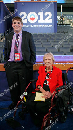 Sam Gray, Elzena Johnson Youngest delegate Sam Gray, 17, from Marion, Iowa and the oldest delegate Elzena Johnson, 97, from Terry, Miss., pose together at the Democratic National Convention in Charlotte, N.C., on