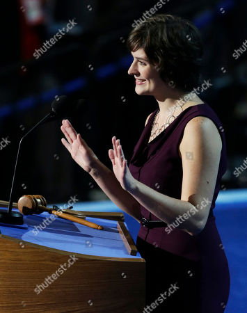 Sandra Fluke, attorney and women's rights activist, speaks to delegates at the Democratic National Convention in Charlotte, N.C., on