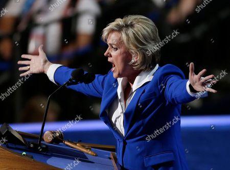 Former Michigan Gov. Jennifer Granholm speaks to delegates at the Democratic National Convention in Charlotte, N.C., on