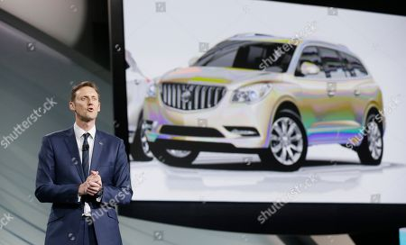 Duncan Aldred General Motors U.S. Vice President, Buick and GMC Duncan Aldred addresses the media during a media preview for the North American International Auto Show, in Detroit