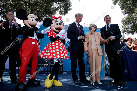 Nancy Reagan, Frederick J. Ryan, Robert Iger, David Ferriero Former first lady Nancy Reagan, second from right, smiles as she is joined by Walt Disney Company Chairman and CEO Robert Iger, right, and Frederick J. Ryan Jr., chairman of the Ronald Reagan Presidential Foundation, third from right, Minnie Mouse, Mickey Mouse and David Ferriero, Archvist of the United States, during the opening ceremony of the D23 Presents Treasures of Walt Disney Archives exhibit at The Ronald Reagan Presidential Library in Simi Valley, Calif