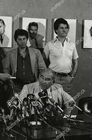 Ed Asner Actor Ed Asner, seated, President of the Screen Actors Guild, speaks to reporters during news conference in Hollywood, where Asner expressed fears that a SAG strike would hurt fellow actors. Standing behind Asner are ?Lou Grant? television series co-stars Robert Walden, left, and Alan Williams. A portrait of former SAC President Ronald Reagan hangs on wall