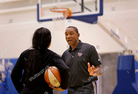 Isiah Thomas New York Liberty President IsiahThomas, right, works out with Brittany Boyd after a team practice in Greenburgh, N.Y. Boyd is young to really remember seeing Thomas play with the Pistons. But she's well aware of his credentials and had seen him in the movie Hoop Dreams. She soaks his instruction up like a sponge