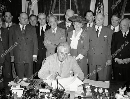 Editorial picture of FDR Signs GI Bill 1944, Washington, USA