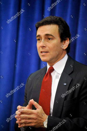 Stock Image of Mark Fields Ford Motor Co. Chief Operating Officer and newly appointed CEO Mark Fields speaks about the future of Ford at the company's annual shareholders meeting in Wilmington, Del., . Fields will take over as CEO when Alan Mulally retires July 1