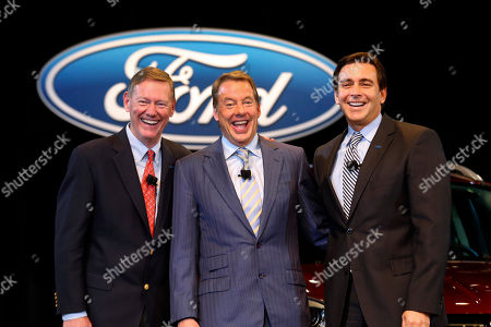 Alan Mulally, Bill Ford Jr., Mark Fields Ford Motor Company President and CEO Alan Mulally, from left, Executive Chairman Bill Ford Jr., and Chief Operating Officer Mark Fields pose after a news conference in Dearborn, Mich., . Ford announced CEO Alan Mulally will retire July 1 and be replaced by Fields