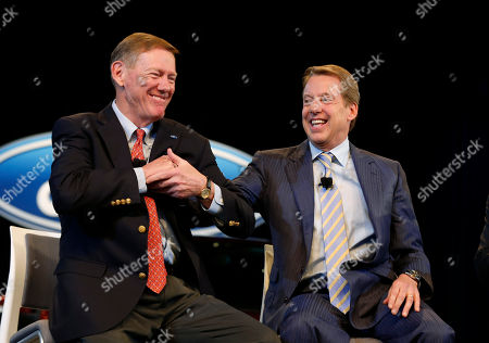 Alan Mulally, Bill Ford Jr Ford Motor Company President and CEO Alan Mulally, left, Executive Chairman Bill Ford Jr., smile during a news conference in Dearborn, Mich., . Ford announced CEO Alan Mulally will retire July 1 and be replaced by COO Mark Fields