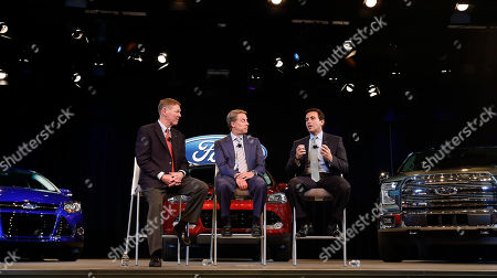 Alan Mulally, Bill Ford Jr., Mark Fields Ford Motor Company President and CEO Alan Mulally, from left, Executive Chairman Bill Ford Jr., and Chief Operating Officer Mark Fields speak during a news conference in Dearborn, Mich., . Ford announced CEO Alan Mulally will retire July 1 and be replaced by Fields