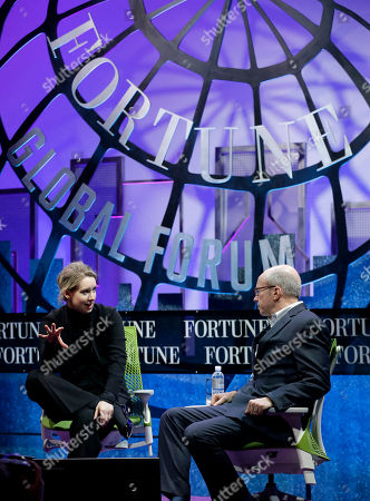 Elizabeth Holmes, Alan Murray Elizabeth Holmes, left, founder and CEO of Theranos, speaks with Fortune editor Alan Murray at the Fortune Global Forum in San Francisco
