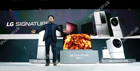 Editorial image of Gadget Show LG Electronics, Las Vegas, USA