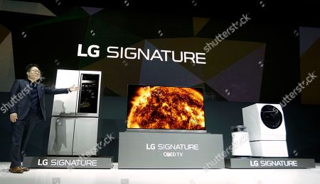 Editorial photo of Gadget Show LG Electronics, Las Vegas, USA