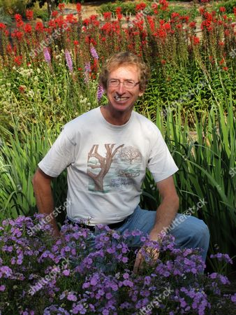 This photo shows Bill Carter, president of Prairie Moon Nursery, poses amid an assortment of prairie flowers sown in a nearby farmyard near Winona, Minn. Many of these seeded perennials need two or three years to reach blooming size but really take off once established