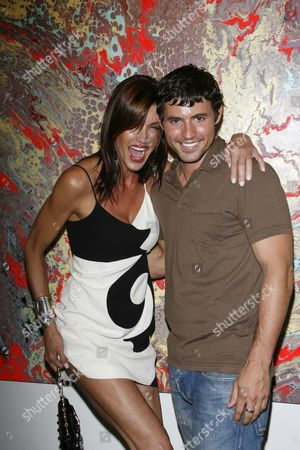 Stock Picture of Janice Dickinson and Kris Black