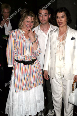 Sinead Cusack, Christian Coulson and Bianca Jagger.
