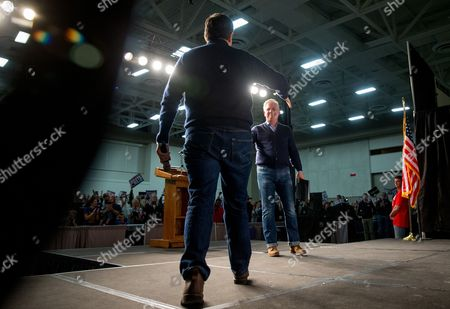 Ted Cruz, Glenn Beck Republican presidential candidate Sen. Ted Cruz, R-Texas, left, is welcomed to the stage by radio and television personality Glenn Beck, right, at a rally at the Five Sullivan Brothers Convention Center in Waterloo, Iowa