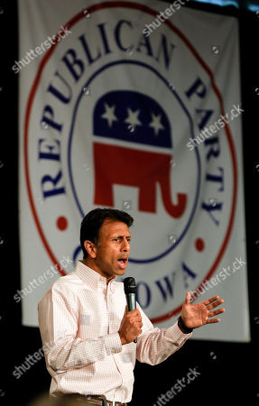 Bobby Jindal Republican presidential candidate, Louisiana Gov. Bobby Jindal, speaks at the Iowa GOP's Growth and Opportunity Party at the Iowa state fair grounds in Des Moines, Iowa