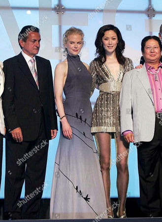 Stock Photo of Omega Watches' Chairman Urqhart with Nicole Kidman, Sophia Kao and Sammo Hung Kam-Bo. Nicole Kidman. Kidman on her first trip to China is on a two day trip in her role as a Goodwill Ambassador for UNIFEM which is a United Nations agency for women.