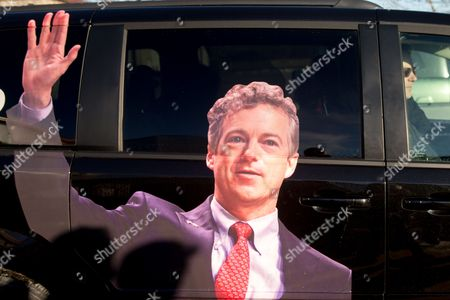 Rand Paul Republican presidential candidate Sen. Rand Paul, R-Ky., right, departs after firing an AR-15 rifle at Crossroads Shooting Sports in Johnston, Iowa